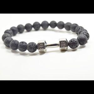 Jewelry - Brand New! Lava stone FIT LIFE barbell bracelet