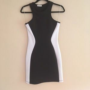 Bodycon scuba mini dress