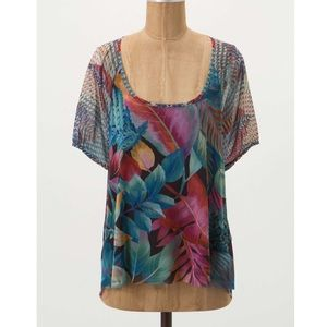 "Anthropologie ""spirited peasant top"""