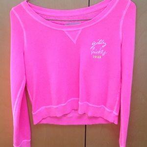 Size S Gilly Hicks pink crewneck sweatshirt
