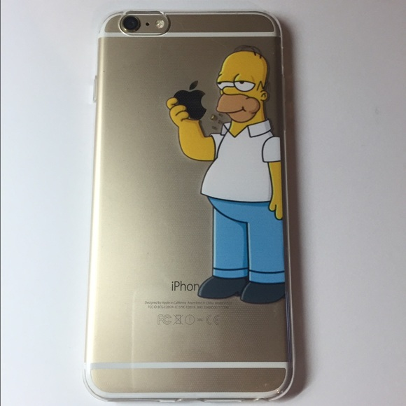 uk availability 8a18f 1b3f7 iPhone 6 6s 6 Plus Homer Simpson Slim Case New NWT