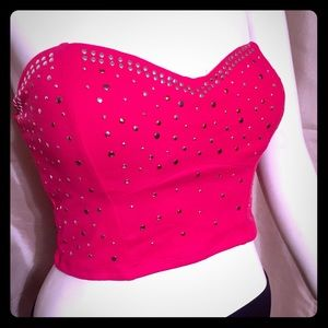 Tops - Red studded tube top NWOT