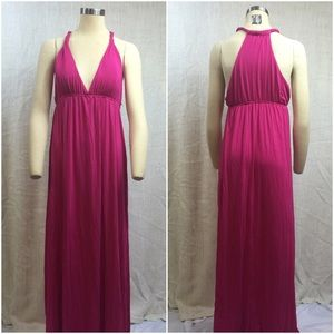 ⭐️Hot Pink Fuchsia Halter Dress