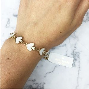 kate spade Jewelry - NEW! Kate spade bracelet gold white black nwt!