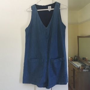 ZARA Denim Romper