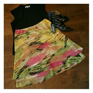 Allison Taylor  Dresses & Skirts - Allison Taylor Layered A-line Skirt