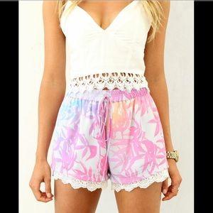 Sabo Skirt Pants - Sabo Skirt Floral shorts