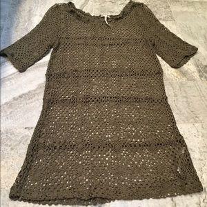 Free People NWOT crochet knit slip Tunic