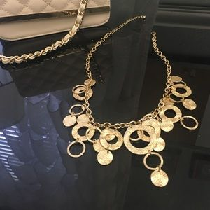 Lilly Pulitzer gold statement necklace