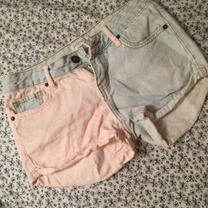 F21 Colorblock shorts