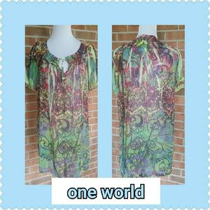 ONE WORLD Dresses & Skirts - One World Beach... Size Medium...Cover up/Dress