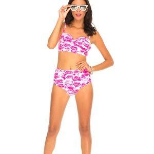 Motel Rocks Other - NWT Motel Rose Bandeau Bikini Top