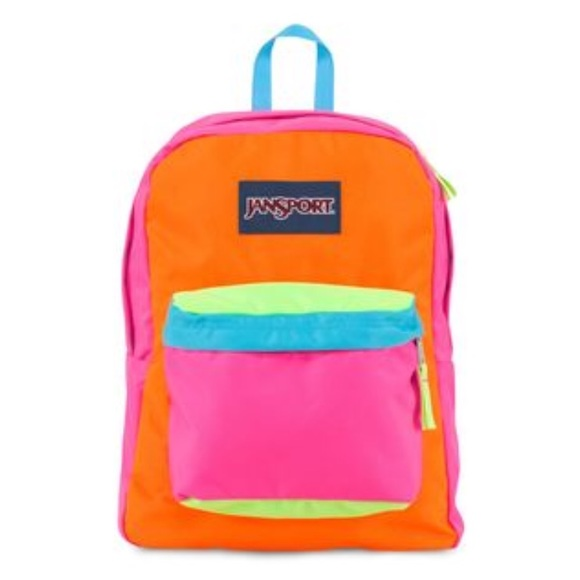 Jansport Handbags - Neon jansport backpack 505a6a4ab2f03