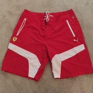 e4b91f5659cc Puma Swim - Men s large puma Ferrari swim trunks