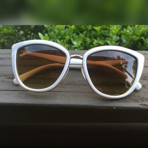 White Cat Eye Sunnies