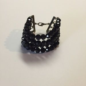 Jewelry - Black Crystal Beaded Bracelet