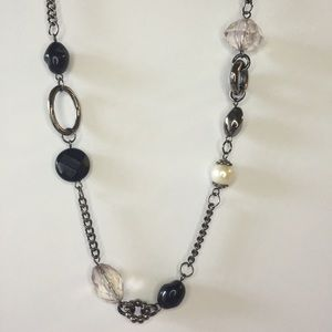 Jewelry - Onyx & Pearl Layering Necklace