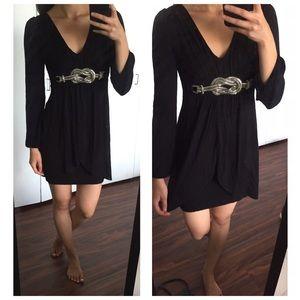 Ariella Dresses & Skirts - Ariella Black Bling Belt Mini Dress