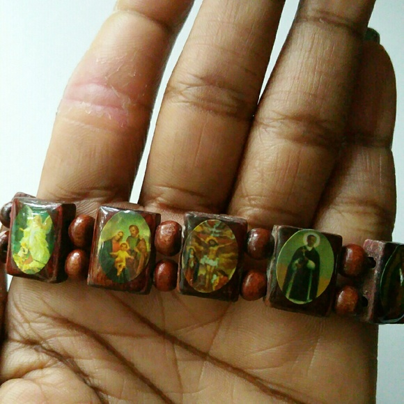 Jewelry - Wooden Bracelet with Religious Scenes