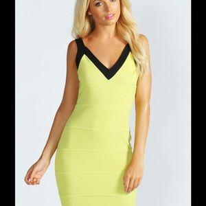 Stephanie V-Back Bandage BodyCon Dress