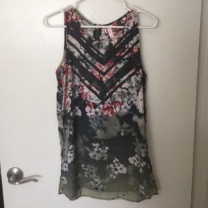 Sleeveless, floral Xhilaration blouse