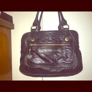 MARC BY MARC JACOBS leather satchel.