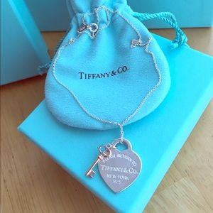 Brand new Tiffany & Co Heart and Key Necklace