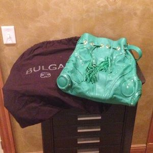 Bulga Handbags - Bulga large green tassel tote