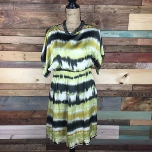 Jessica Howard Dresses & Skirts - Green and Black Tie Dye Dress - 6P