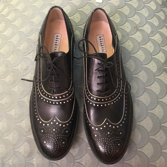 hot sale online 91ef8 0e9fd Fratelli Rossetti Leather Derby Shoes NWT