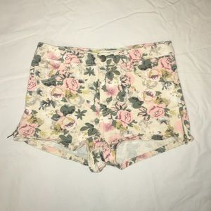 Floral Denim Shorts