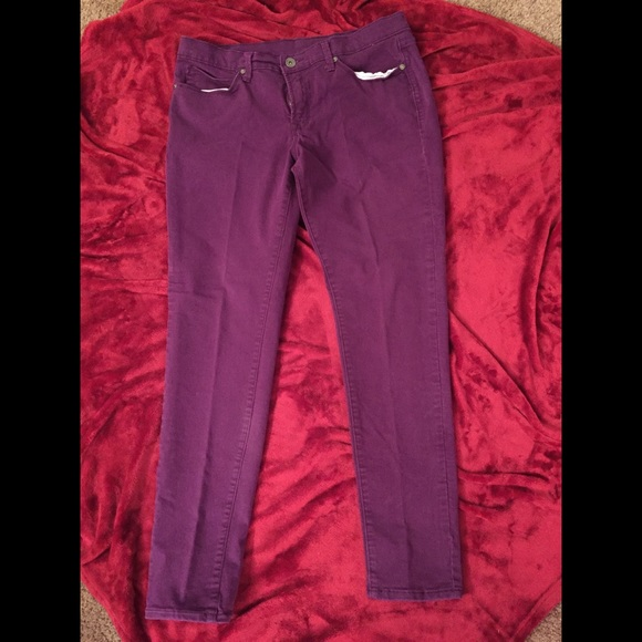 3563d65d2a9 jcpenney Denim - JCPenney Plus Size Purple Skinny Jeans