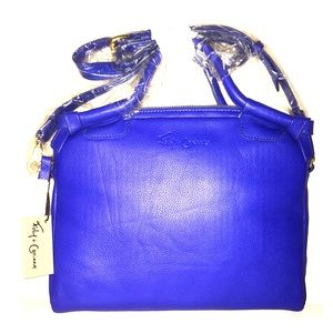 Foley + Corinna City IPad Crossbody Bag in Cobalt