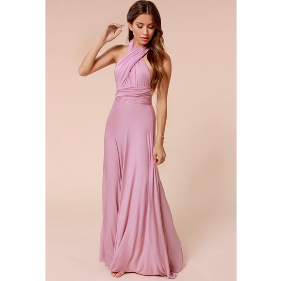 Dresses & Skirts - Pink Convertible Multiway Wrap Maxi Dress