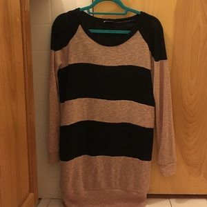 Sparkle and fade striped sweater dress thing