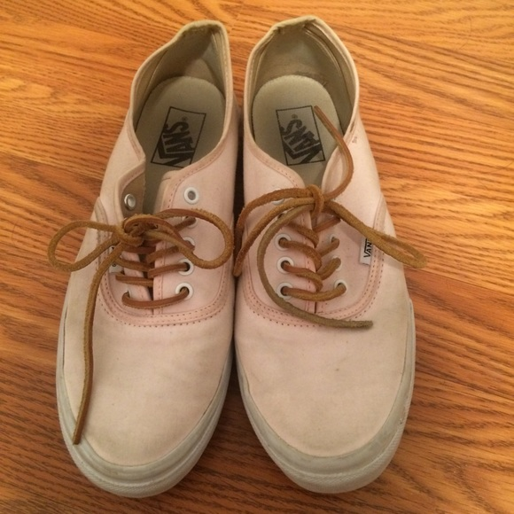 2ca7a2438e Light pink vans with leather laces. M 57808517713fde826e0333d5