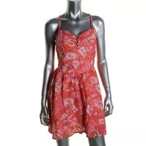 Guess Dresses & Skirts - NWT💠Guess Pink Lace Mini Criss Cross Dress