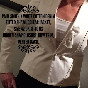 Paul Smith Jackets & Blazers - Paul X  by Paul Smith white selvage denim blazer🌷