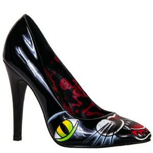 Iron Fist Shoes - Black Cat Point Heel from Iron fist SALE $$