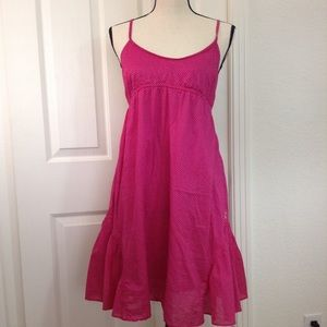 AE Outfitters Dress Dark Pink & White Summer EUC