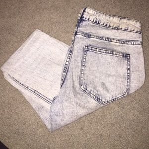 H&M Acid Wash High-Waisted Jeans