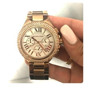 Michael Kors Crystallized Rose Gold Watch