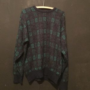 Vintage Green and Blue Sweater