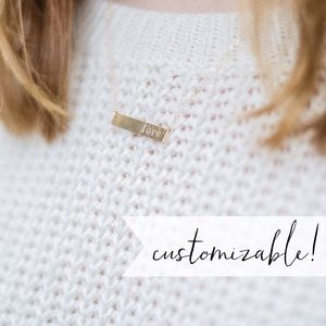 • CUSTOMIZABLE • HANDMADE • Classic Bar Necklace