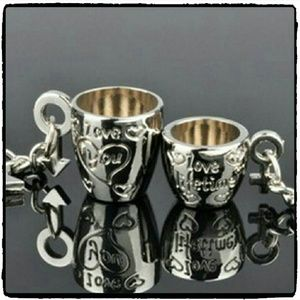 Jewelry - Couples Romatic Double Set Cups Key Chains   ?