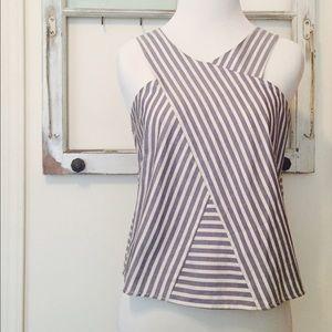 Zara Basic Cotton Top, Modern Neckline
