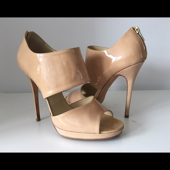 f666fbf6cda Jimmy Choo Shoes - JIMMY CHOO PRIVATE STRAPPY NUDE PAT LEATHER SANDAL