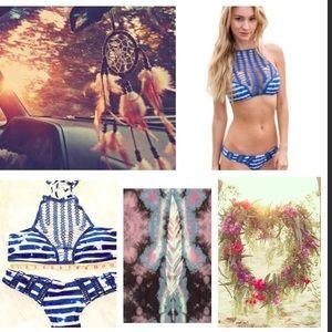Influence Other - 🌿🌺 BOGO 1/2 off high neck crochet bikini