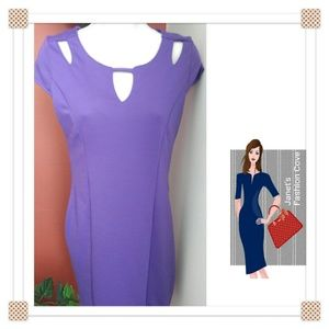 Dresses & Skirts - NWT - Purple w/ Cutouts Sheath Dress