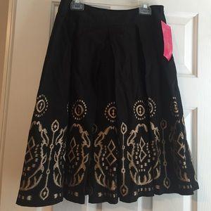 Sunny Leigh black pleated skirt